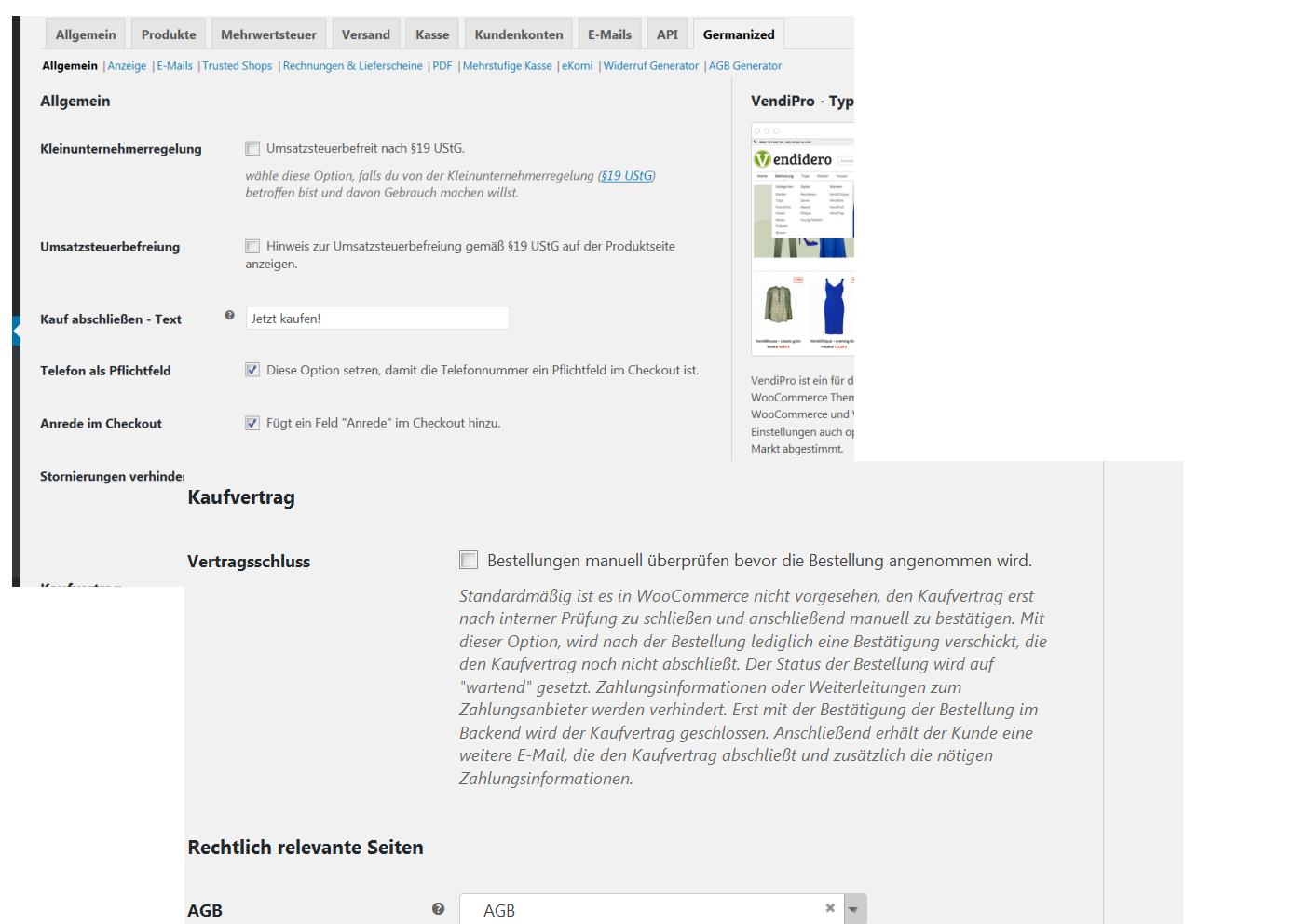 bestellung nicht automatisch angenommen - germandizid ist das problem